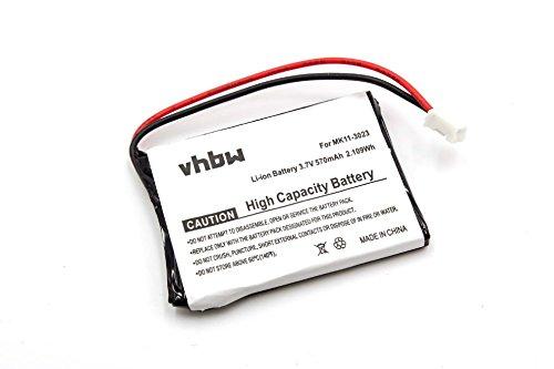 vhbw Akku passend für Sony Playstation 3 PS3 Wireless Keypad Keyboard Tastatur Controller (Qwerty) CECHZK1UC ersetzt MK11-3023 (Li-Ion, 600mAH, 3.7V)