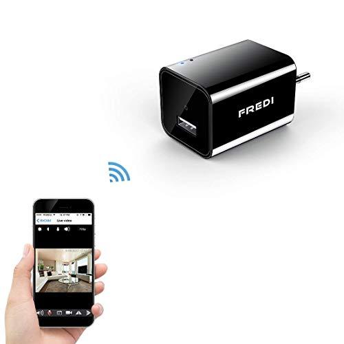 FREDI 1080P WIFI telecamera HD 128G adattatore caricatore con videocamera nascosta spia caricatore della parete telecamera di sorveglianza con ingresso USB wireless ip camera