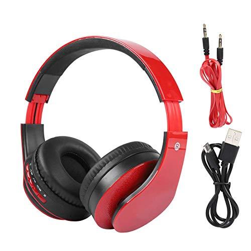 ASYHWZ Auriculares para Juegos, Auriculares con micrófono con cancelación de Ruido, Auriculares estéreo Bluetooth 4.0 con función de Radio FM incorporada inalámbrica Plegable, para Deportes Musicales