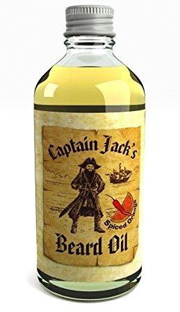 Captain Jack's Beard Oil Huile Revitalisante Pour Barbe du Pirate Captain Jack 100ml Fragrance Orange Épicée Édition Limitée (Spiced Orange)