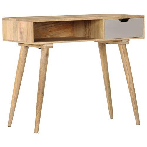 Tidyard Konsolentisch Beistelltisch Flurtisch Schreibtisch Tisch aus massivem Mangoholz Mit Schublade offenen Fach,Sideboard Konsole Holztisch Schubladenschrank 89 x 44 x 76 cm,Massivholz Mango