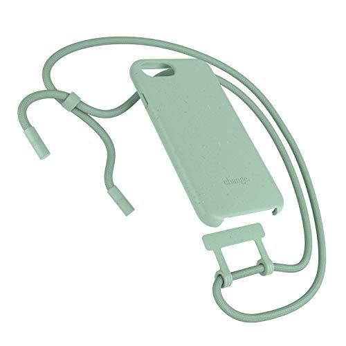 Woodcessories - Nachhaltige Handykette abnehmbar kompatibel mit iPhone SE 2020 Hülle mit Band Mint, iPhone 8 Hülle mit Band Mint, iPhone 7, iPhone 6 (s)