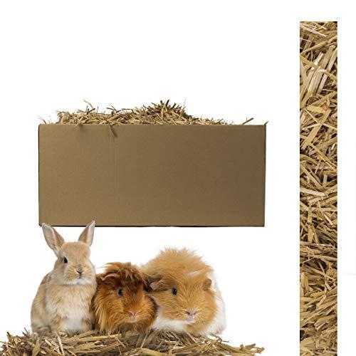 Inter Flowers GmbH Echtes Wiesenheu/Stroh - Naturprodukt für Ihre Haustiere - Kaninchen, Hamster, Meerschweine und Nager Aller Art - frische und hohe Qualität in Plastikfreier Verpackung (Stroh 3 kg)