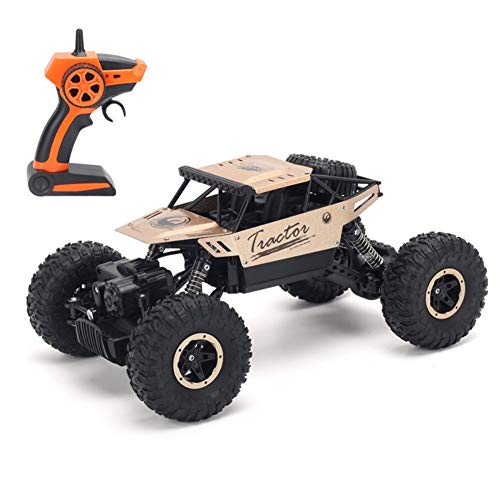 GRTVF RC Buggy, 1/14 Independiente Suspension Spring Rally Truck 2.4GHz Control Remoto De Alta Velocidad Coche 4WD Claza Inalámbrica De Escalada Con Una Batería Recargable Para Niños En Interiores Y E
