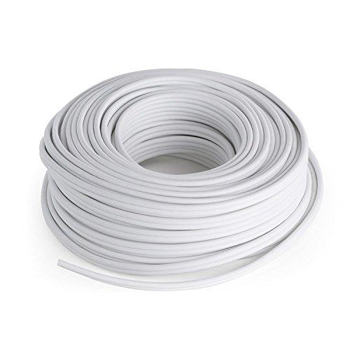 NUMAN Cavo per Altoparlanti e Casse Acustiche in Alluminio Rivestito di Rame (Lunghezza 30 Metri, 2 x 2,5 mm², CCA Alluminio – Rame) bianco