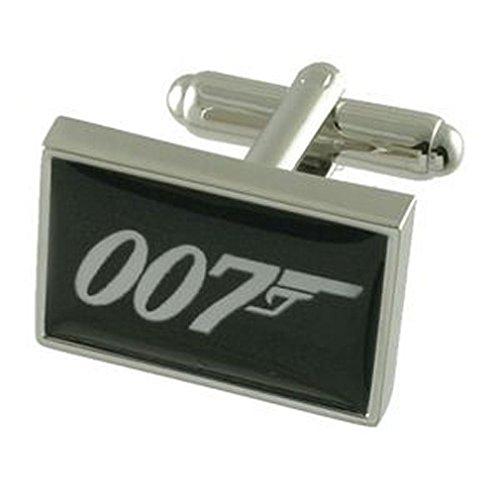 Manschettenknöpfe 007 James Bond Stil~ Secret Agent Spion Manschettenknöpfe Manschettenknöpfe wählen Sie Geschenk Tasche
