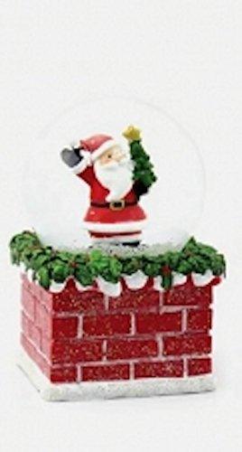 LEONARDO HOME Weihnachtsmann Weihnachten Schneekugel Schnee-Sturm bei Geschenkbox