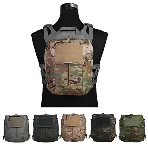 Tactical Pouch Zip-ON Panel for Vest Plate Carrier AVS JPC2.0 CPC Gear (Multicam Black)