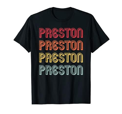 PRESTON Nombre de regalo personalizado divertido retro vintage cumpleaños Camiseta