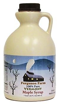 Ferguson Farms 100% Pure Vermont Maple Syrup Grade A Dark Jug 1 Quart  32oz