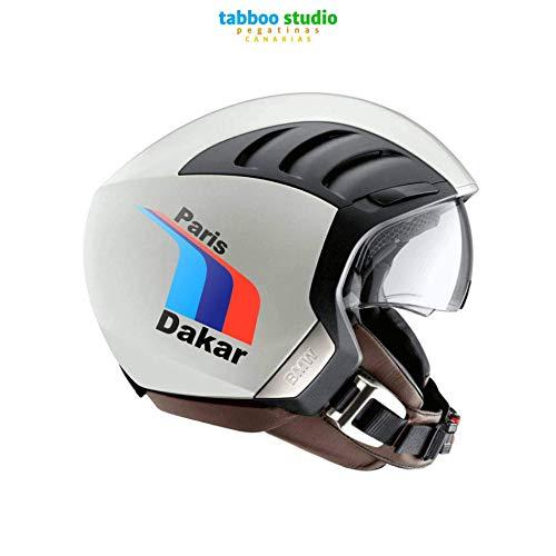 Adesivi Paris Dakar tricolore per casco compatibili BMW