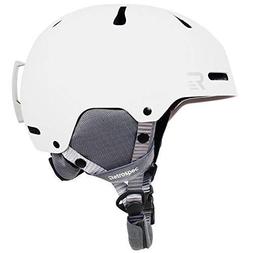 Retrospec Traverse H3 Adult Ski & Snowboard Helmet with 10 Vents; Matte White, Medium 55-58cm, Model:3478