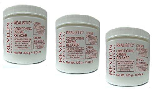 3x Relaxer/Glättungscreme REVLON Conditioning Creme Relaxer MILD 425g (ingesamt - 1275g)