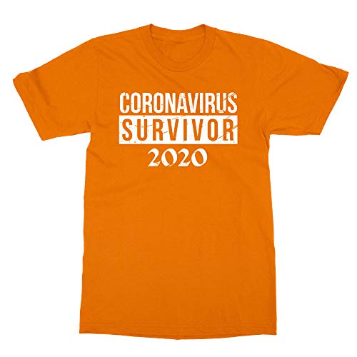 Sheki Apparel New Graphic Survivor Coronavirus 2020 Boys Girls Youth T-Shirt (Orange, Youth X-Large)