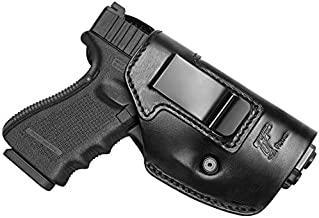 Full Grain Leather Holster Compatible with Glock 17 19 22 31 42 43/Taurus G2C G3C G3/M&P Shield/Hellcat XDM 40/P320 P365/Two to Fit Most Full Size Compact Subcompact Pocket Handguns