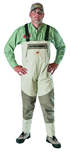 Caddis Men's Grey and Brown Northern Guide Breathable Stocking Foot Wader, XX-Large Short Stout