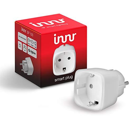 Innr SP 120 SmartPlug, Prise Connectée, pilotable via smartphone, compatible avec Philips Hue, 2300W, Blanc