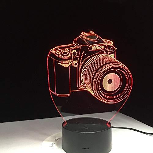 jiushixw 3D acryl nachtlampje met afstandsbediening kleur tafellamp Entertainment Camera Error Mini tafellamp