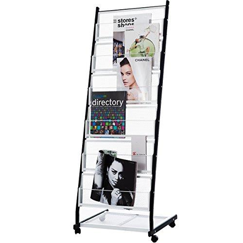 DXP Prospektständer Prospekthalter A4 Brochure Literature Magazine Display Stand Rack Neu (133X47.5X40 CM )