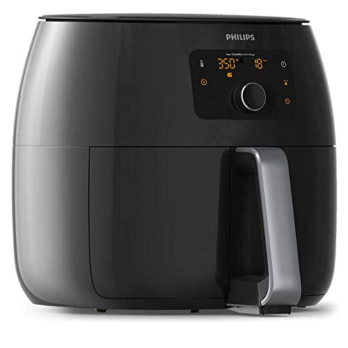 Philips Avance Collection XXL Digital Twin TurboStar Airfryer Black/Silver - HD9654/96 (Renewed)