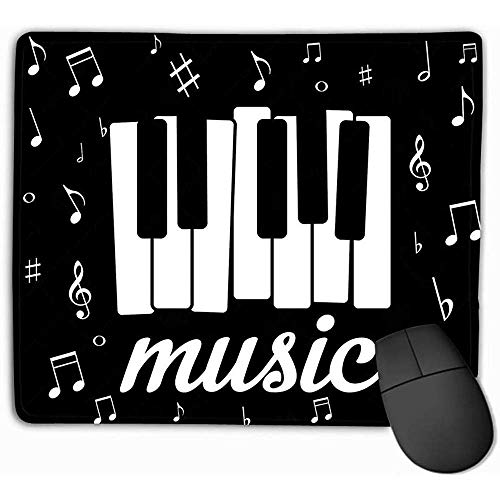 Emonye Mouse Pad, Mouse Mat Music icon Piano Musical Notes eps Character 25 * 30CM