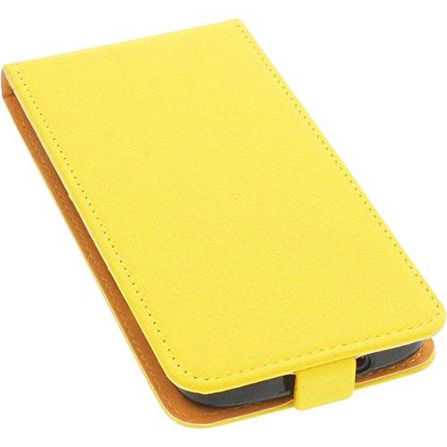 foto-kontor Tasche für Doro 8040 Smartphone Flipstyle Schutz Hülle gelb