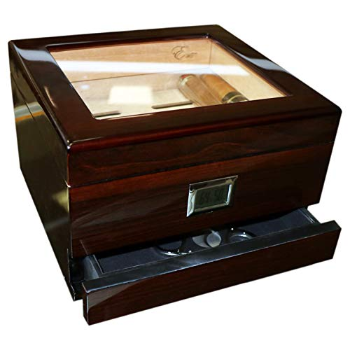 EWT High Gloss Cigar Humidors 30Ct with Drawer