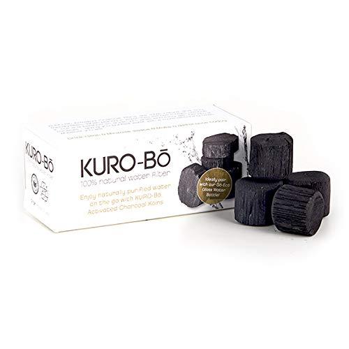 KURO-Bō Binchotan Kohle Wasserfilter Koins für Wasserflasche bis 1 Liter (1 Pack)