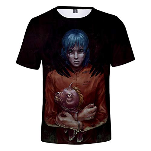 YJXDBABY-Sally Face-Camisetas De Manga Corta De Moda para NiñOs, Ropa para NiñOs, Camisetas Creativas De Regalo De CumpleañOs, Camisetas Polo-120