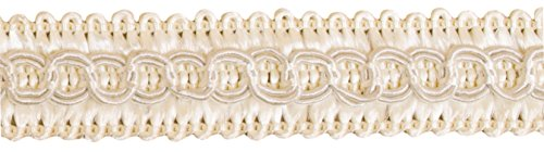 13.5 Yards of 1/2 inch Basic Trim Decorative Cream Color Gimp Braid, Style# 0050SG Color: Off White - A3, (41 Ft / 12.5 Meters)