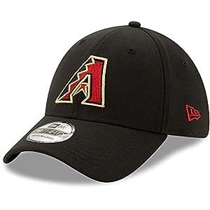 New Era MLB Arizona Diamondbacks 39THIRTY Team Classic Stretch Fit Hat, Black Cap