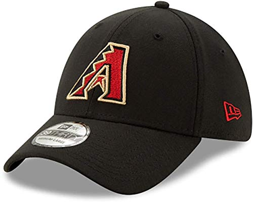 New Era Arizona Diamondbacks Team Classic Stretch Fit Black Hat Medium - Large