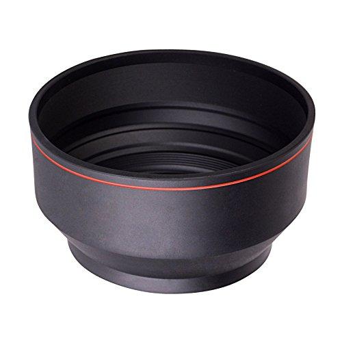 Kenko ラバーフード マルチレンズフード 52mm ネジ込みタイプ 標準・望遠レンズ対応 3段伸縮式 KMLH-52