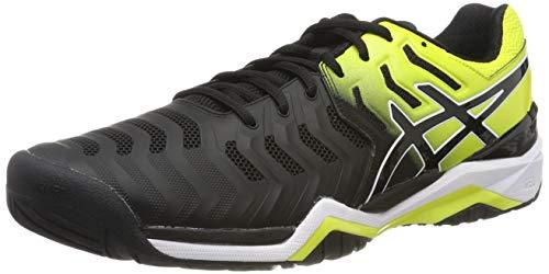ASICS Gel-Resolution 7, Scarpe da Tennis Uomo, Multicolore (Black/Sour Yuzu 003), 41.5 EU
