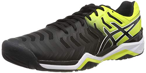 ASICS Gel-Resolution 7, Scarpe da Tennis Uomo, Multicolore (Black/Sour Yuzu 003), 44 EU