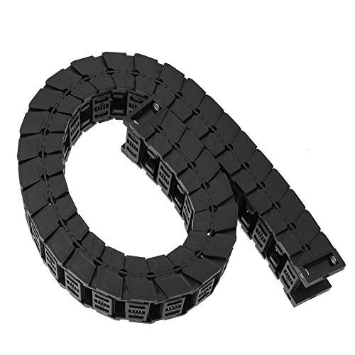 Abnehmbare Baugruppe Nylon 66 Material Kabelschleppkette Silent Serie für professionellen Kabelschutz für CNC-Maschinen(Length 0.7m, S25*38)