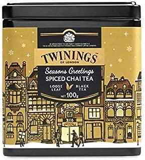 Twinings Tea - Seasons Greetings - Spiced Chai Tea - 100gr / 3.52oz Caddy Loose Tea