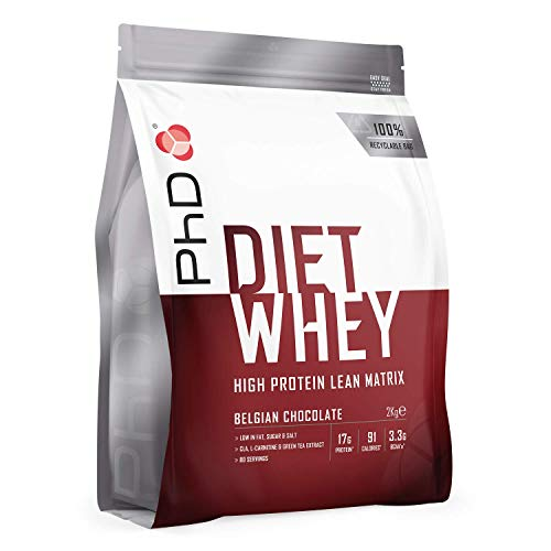 PhD Nutrition Diet Whey Protein Powder, Belgian Chocolate, 2 kg