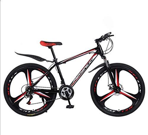 ZTYD 26in 21 de Velocidad de Bicicletas de montaña de Edad, Estructura de Acero al Carbono de Peso Ligero Completa, la Rueda Delantera Suspensión para Hombre de la Bicicleta, Freno de Disco