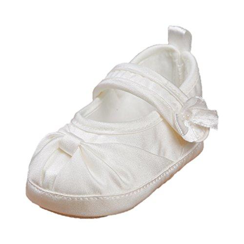 Celebration Festliche Babyschuhe Taufschuhe Satin Ballerina Creme Ivory 6116-284 (17=10 cm)