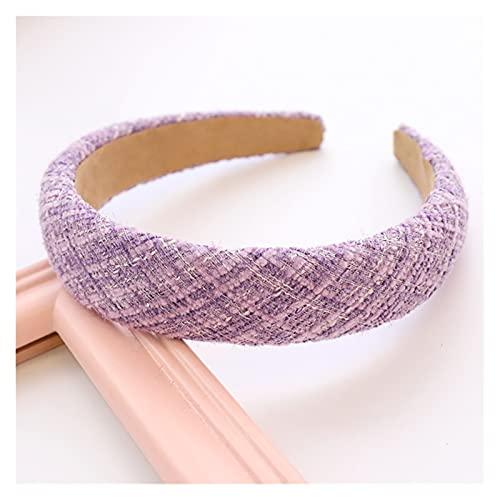 YINGBBH Banda para el Cabello Plaid Woolen Sponge Plain Pein Band Headband Mujer Muchacha Accesorios para el Cabello (Farbe : Lavendel)