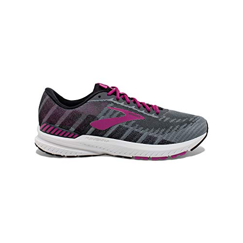 Brooks Womens Ravenna 10 Running Shoe - Ebony/Black/Wild Aster - B - 10.0