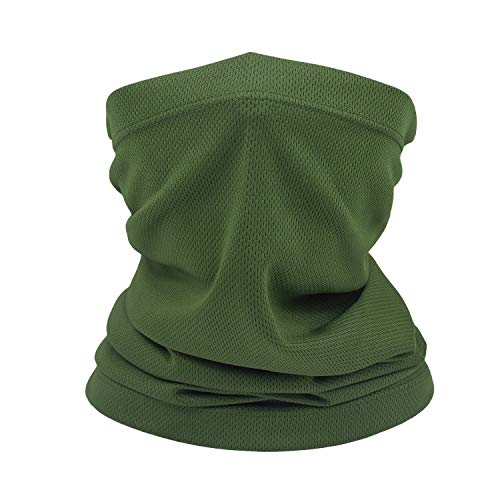 Summer Face Scarf Neck Gaiter Windproof Anti-dust Mask (Army Green)