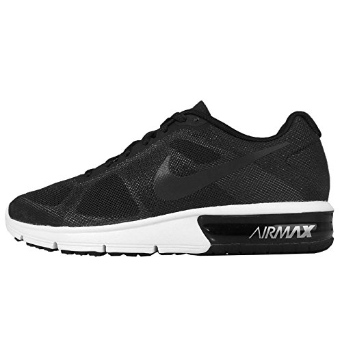 Nike Womens Air Max Sequent Running Trainers 719916 Sneakers Shoes (UK 3 US 5.5 EU 36, Black Wolf Grey White 008)