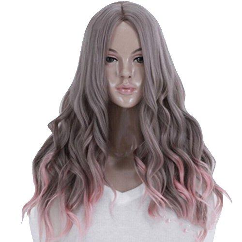 Vococal® 65cm Cheveux Perruque pour Masquerade Cosplay Longs Ondulés