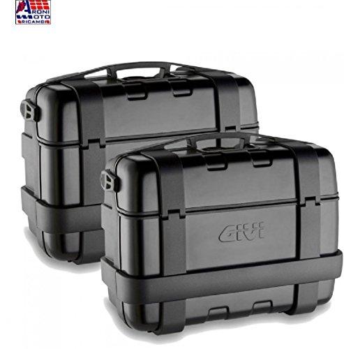 Givi TRK33BPACK2 Trekker 33 Baúl Monokey con Cover de Aluminio, Color Negro, Carga Máxima A 10 Kg