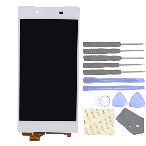 VEKIR Parti di Ricambio per telefoni cellulari Sony Xperia Z5 E6603 E6633 E6653 E6683 Schermo Display Touch Digitizer Completo [No Schermo Frame](White)