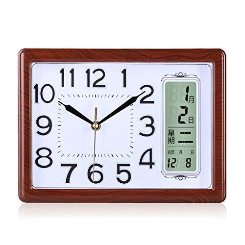 Reloj de mesa Perpetuo Calendario Reloj de silencio Reloj de sala de estar Dormitorio Reloj LCD Monitor de cuarzo Reloj de escritorio moderno y electrónico Reloj de decoración de interiors