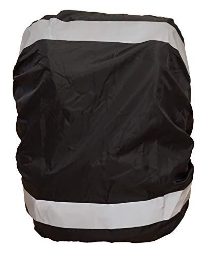 EANAGO Premium Regenschutz/Regenüberzug für Schulranzen, Rucksack, Fahrradtaschen. 100% wasserdicht, schwarz