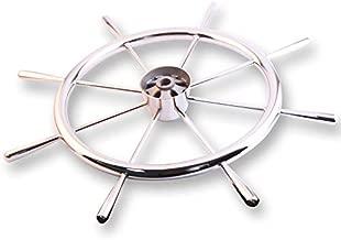 Prairie Metal Big Size Steering Wheel Nautical Retro 8 Spoke Stainless Steel Wheel
